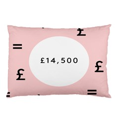 Added Less Equal With Pink White Pillow Case