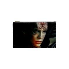Digital Fantasy Girl Art Cosmetic Bag (small)
