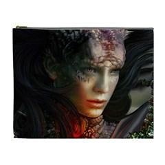 Digital Fantasy Girl Art Cosmetic Bag (XL)