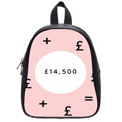 Added Less Equal With Pink White School Bags (Small)