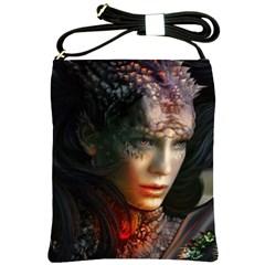Digital Fantasy Girl Art Shoulder Sling Bags