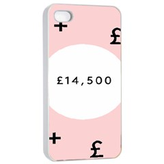 Added Less Equal With Pink White Apple Iphone 4/4s Seamless Case (white)