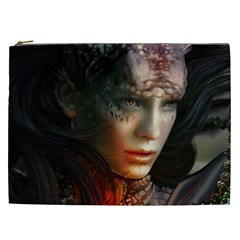 Digital Fantasy Girl Art Cosmetic Bag (XXL)
