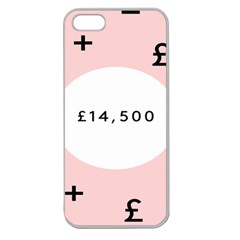 Added Less Equal With Pink White Apple Seamless iPhone 5 Case (Clear)