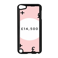 Added Less Equal With Pink White Apple iPod Touch 5 Case (Black)