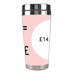 Added Less Equal With Pink White Stainless Steel Travel Tumblers