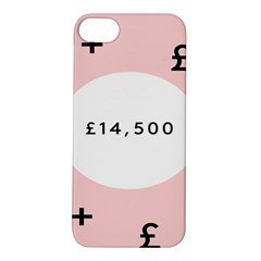 Added Less Equal With Pink White Apple iPhone 5S/ SE Hardshell Case