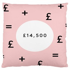 Added Less Equal With Pink White Large Flano Cushion Case (One Side)