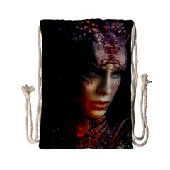 Digital Fantasy Girl Art Drawstring Bag (Small)