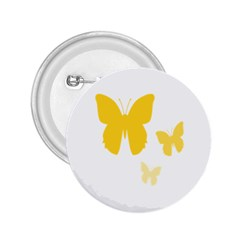 Yellow Butterfly Animals Fly 2 25  Buttons