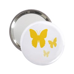 Yellow Butterfly Animals Fly 2.25  Handbag Mirrors