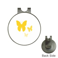 Yellow Butterfly Animals Fly Hat Clips with Golf Markers