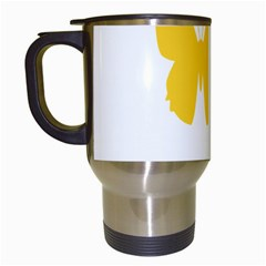 Yellow Butterfly Animals Fly Travel Mugs (White)