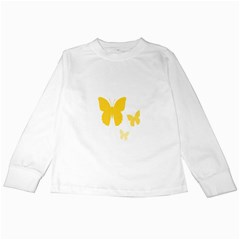 Yellow Butterfly Animals Fly Kids Long Sleeve T-Shirts
