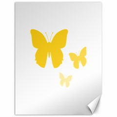 Yellow Butterfly Animals Fly Canvas 12  X 16