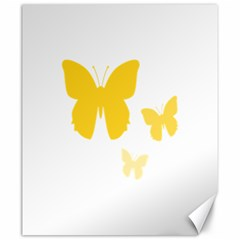 Yellow Butterfly Animals Fly Canvas 20  x 24