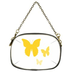 Yellow Butterfly Animals Fly Chain Purses (one Side)