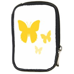 Yellow Butterfly Animals Fly Compact Camera Cases