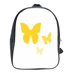 Yellow Butterfly Animals Fly School Bags(large)