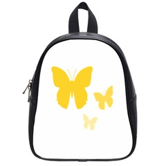 Yellow Butterfly Animals Fly School Bags (Small)