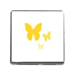 Yellow Butterfly Animals Fly Memory Card Reader (square)