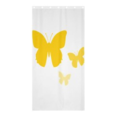 Yellow Butterfly Animals Fly Shower Curtain 36  x 72  (Stall)
