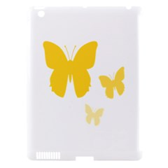 Yellow Butterfly Animals Fly Apple iPad 3/4 Hardshell Case (Compatible with Smart Cover)