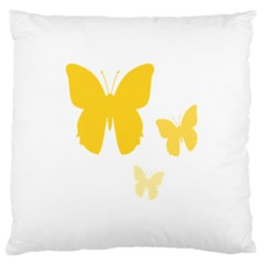 Yellow Butterfly Animals Fly Large Cushion Case (One Side)