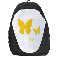 Yellow Butterfly Animals Fly Backpack Bag