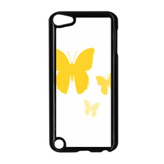 Yellow Butterfly Animals Fly Apple iPod Touch 5 Case (Black)