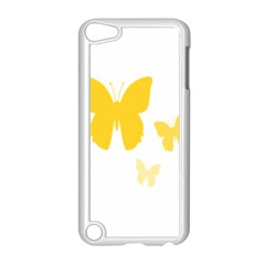 Yellow Butterfly Animals Fly Apple iPod Touch 5 Case (White)