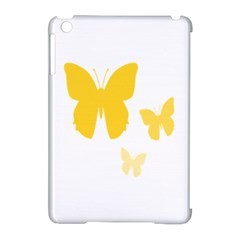 Yellow Butterfly Animals Fly Apple Ipad Mini Hardshell Case (compatible With Smart Cover)