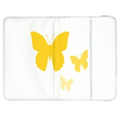 Yellow Butterfly Animals Fly Samsung Galaxy Tab 7  P1000 Flip Case
