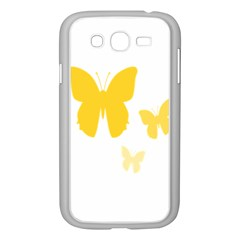 Yellow Butterfly Animals Fly Samsung Galaxy Grand DUOS I9082 Case (White)