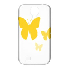Yellow Butterfly Animals Fly Samsung Galaxy S4 Classic Hardshell Case (PC+Silicone)