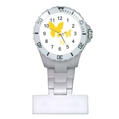 Yellow Butterfly Animals Fly Plastic Nurses Watch