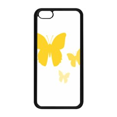 Yellow Butterfly Animals Fly Apple iPhone 5C Seamless Case (Black)