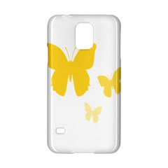 Yellow Butterfly Animals Fly Samsung Galaxy S5 Hardshell Case