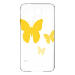 Yellow Butterfly Animals Fly Samsung Galaxy S5 Back Case (White)