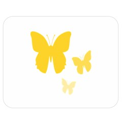 Yellow Butterfly Animals Fly Double Sided Flano Blanket (Medium)