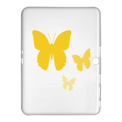 Yellow Butterfly Animals Fly Samsung Galaxy Tab 4 (10.1 ) Hardshell Case