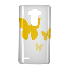 Yellow Butterfly Animals Fly LG G4 Hardshell Case