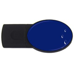 Bubbles Circle Blue USB Flash Drive Oval (1 GB)