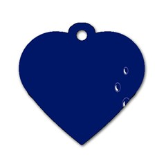 Bubbles Circle Blue Dog Tag Heart (one Side)