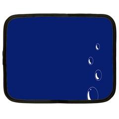 Bubbles Circle Blue Netbook Case (Large)