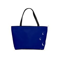Bubbles Circle Blue Shoulder Handbags