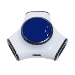 Bubbles Circle Blue 3 Port Usb Hub