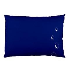 Bubbles Circle Blue Pillow Case (Two Sides)