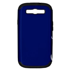 Bubbles Circle Blue Samsung Galaxy S III Hardshell Case (PC+Silicone)