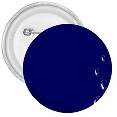 Bubbles Circle Blue 3  Buttons